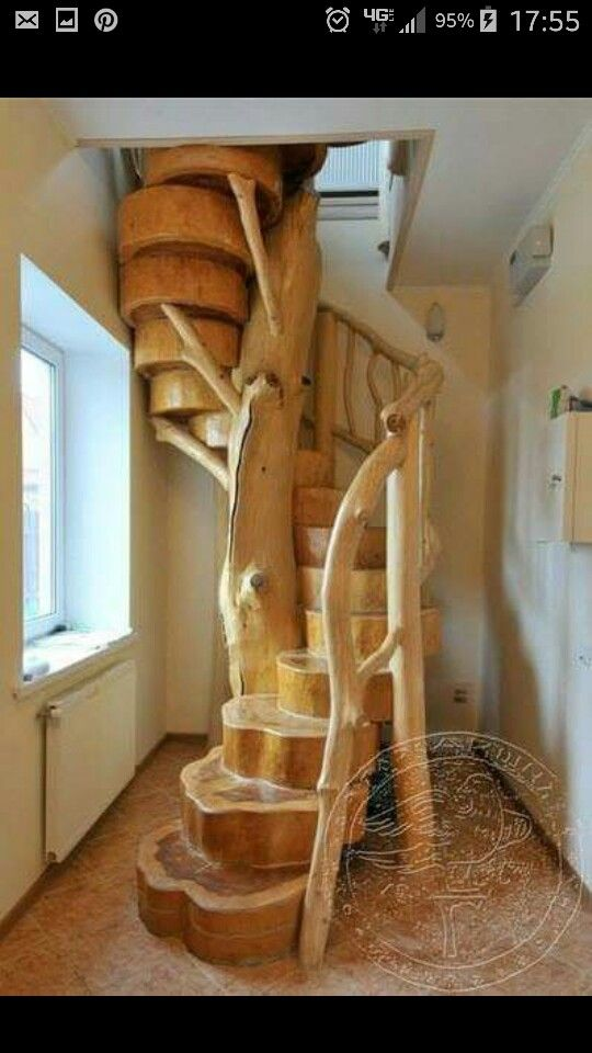 Spiral tree stairs