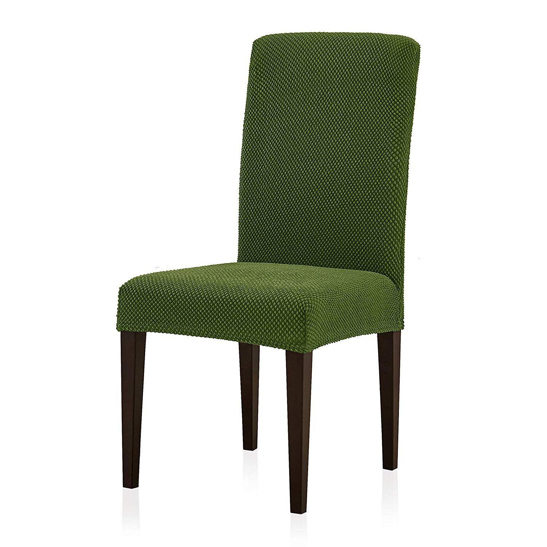 Subrtex 4Pcs Jacquard Stretch Dining Room Chair Slipcovers