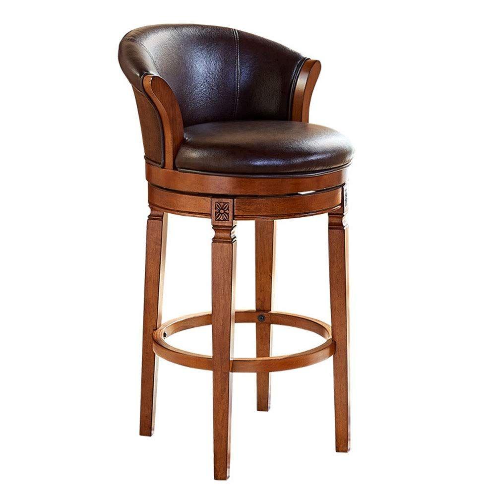 Robdae Barstools Leather Counter Barstool Bar Stools Home Bar Furniture High Bar Stools Wood leather bar stools