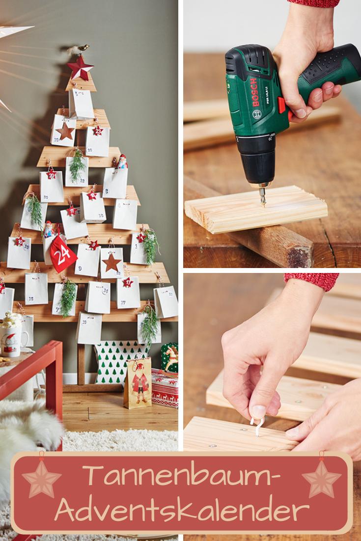 Unser Adventskalender in Tannenbaumform verbirgt kleine Geschenke in jedem Tütchen. Zudem sieht er auch noch sehr dekorativ aus!  #adventskalender #adventskalenderbasteln #advent #weihnachtsbaum #tannenbaum #weihnachten #selbst #adventskalenderbasteln