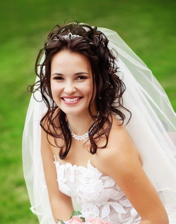 Brautfrisuren lange haare schleier