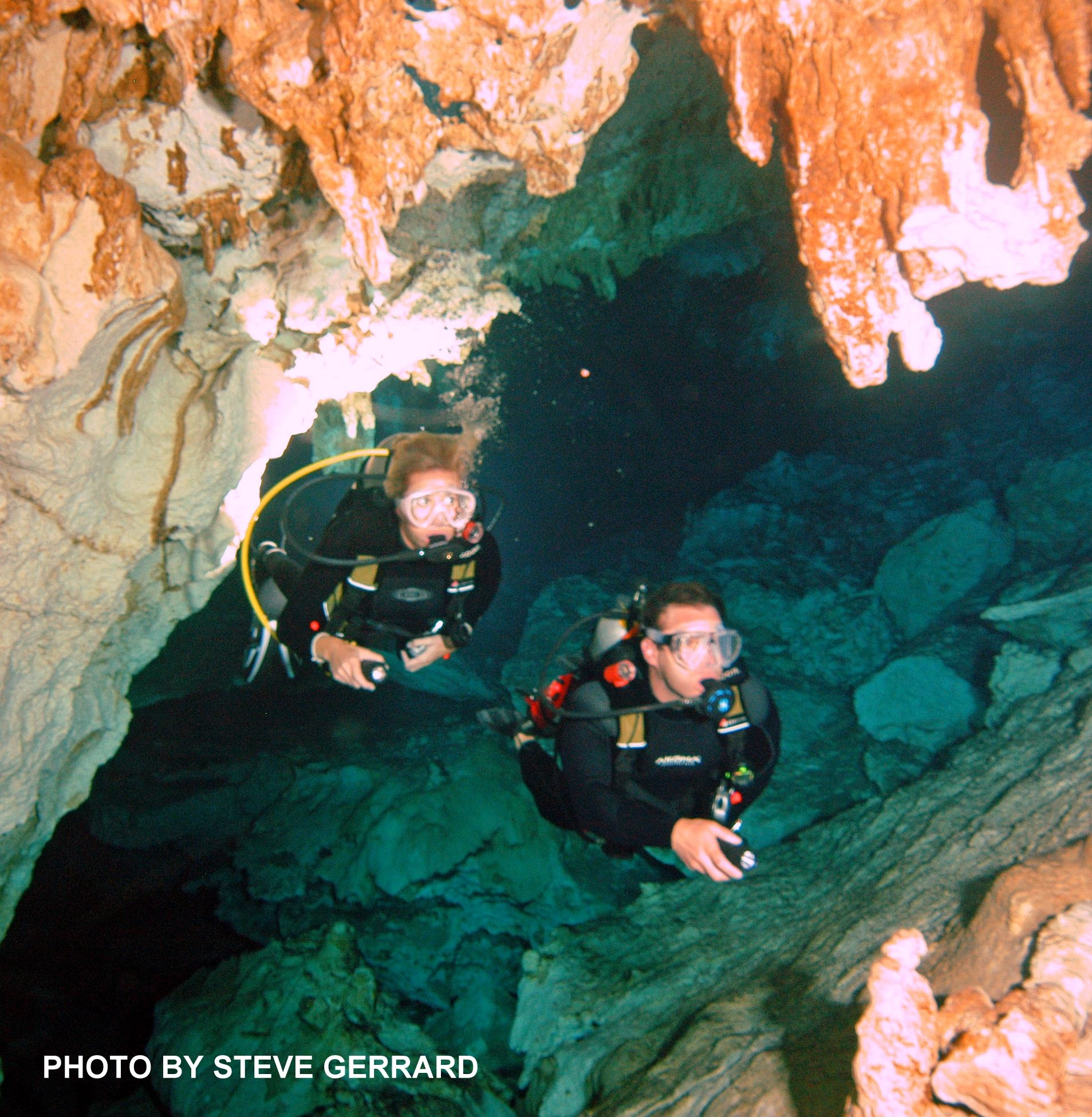 Scuba diving this cenote is spectacular.