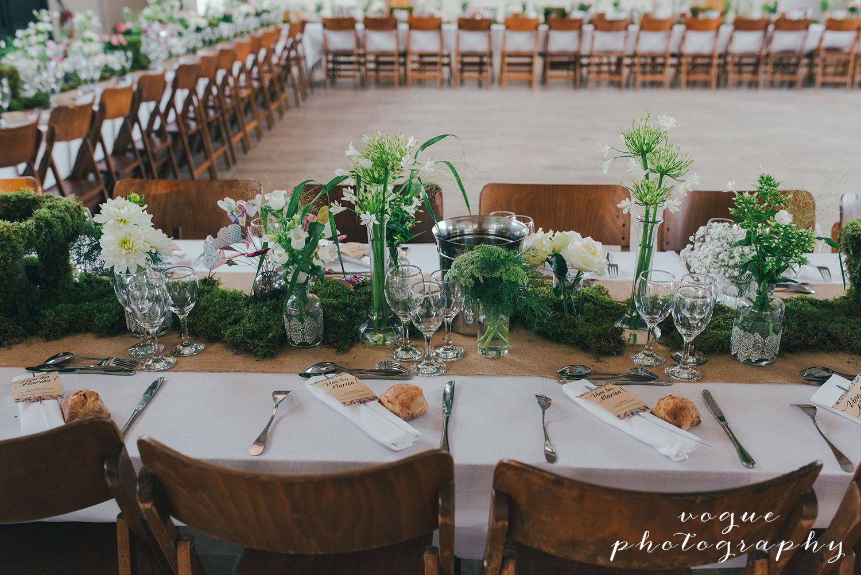 Mariage rustique chic nature Table de mariage et chaises en bois