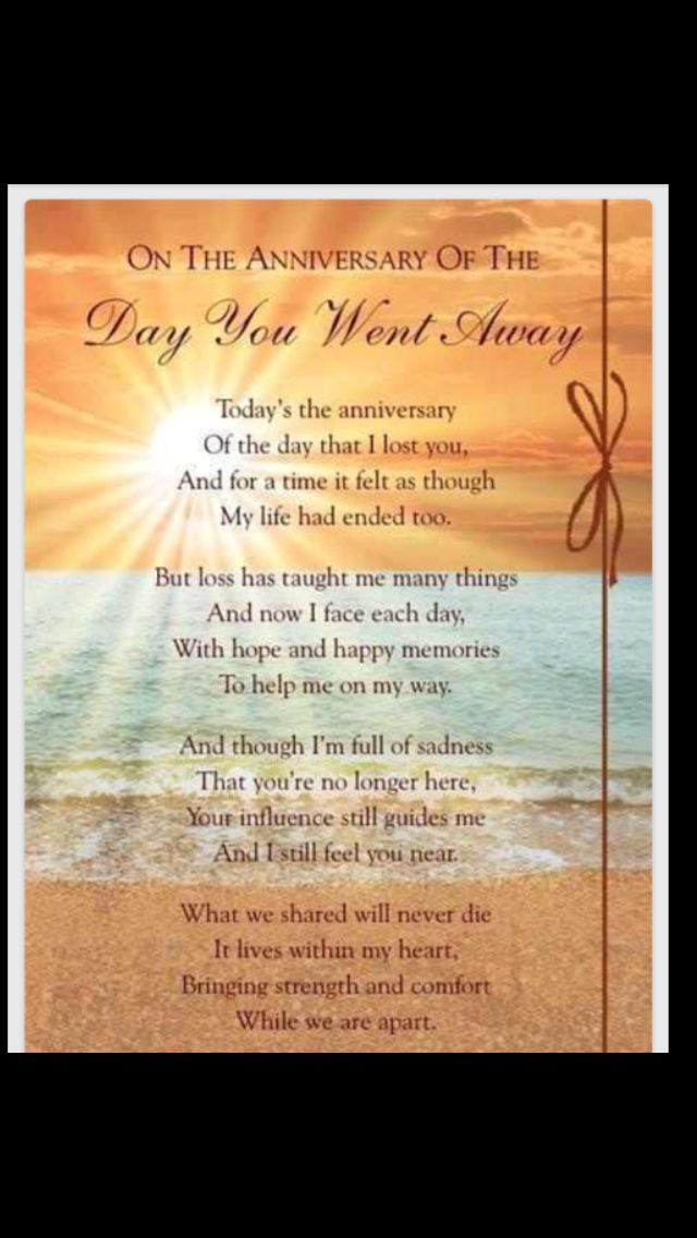 The Day You Went Away I Dad Anniversary Quotes Death