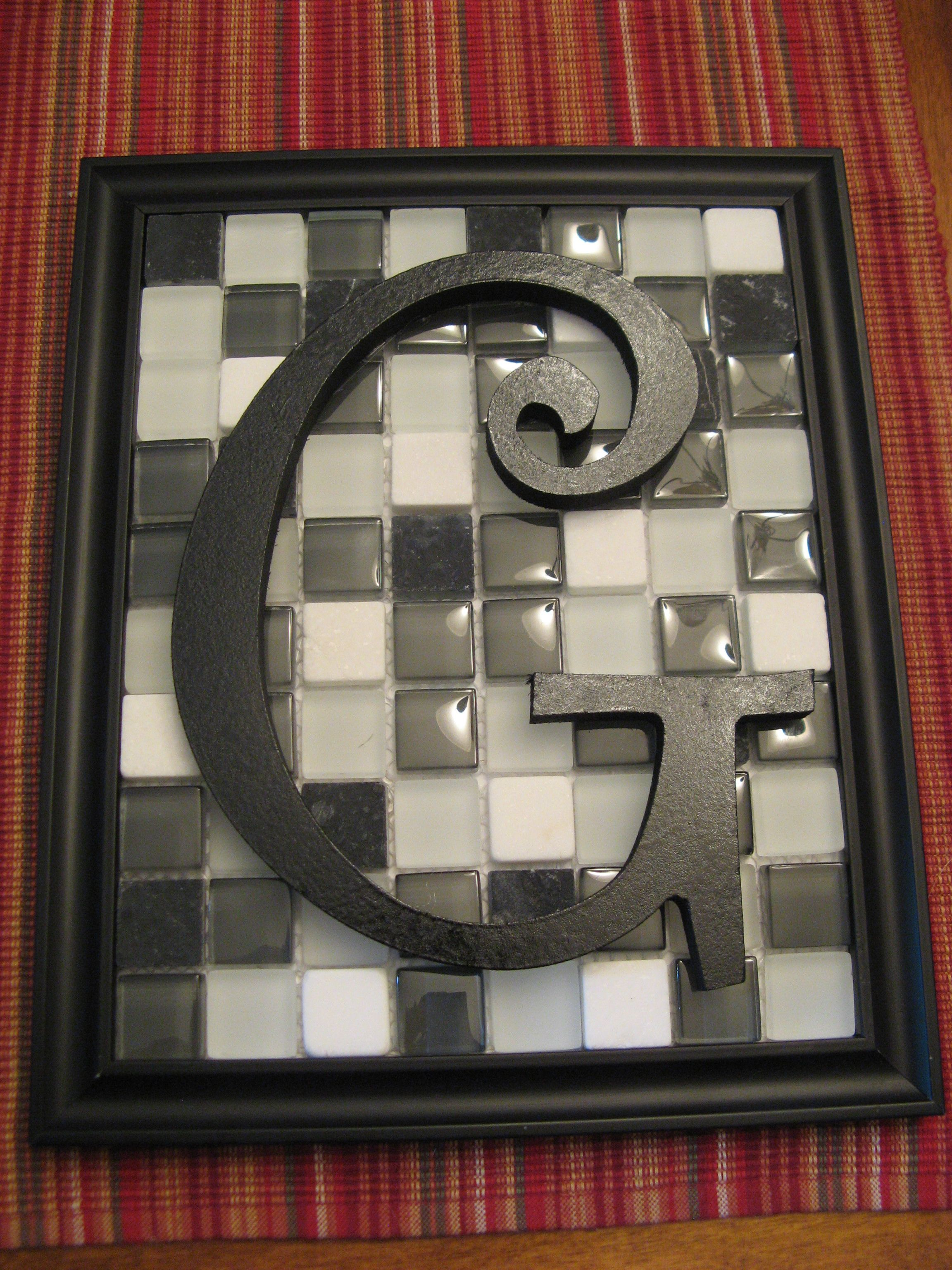 Leftover Frame From Our DaughterS Wedding Glass Tiles From Home
