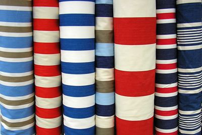 Red White And Blue Striped Fabrics Prints Pattern Study