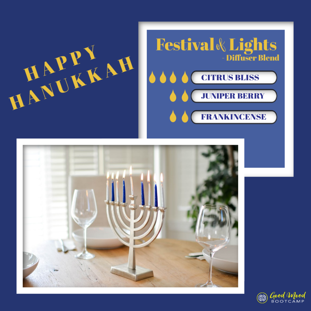 Happy Hanukkah! Here's a diffuser blend to get excited