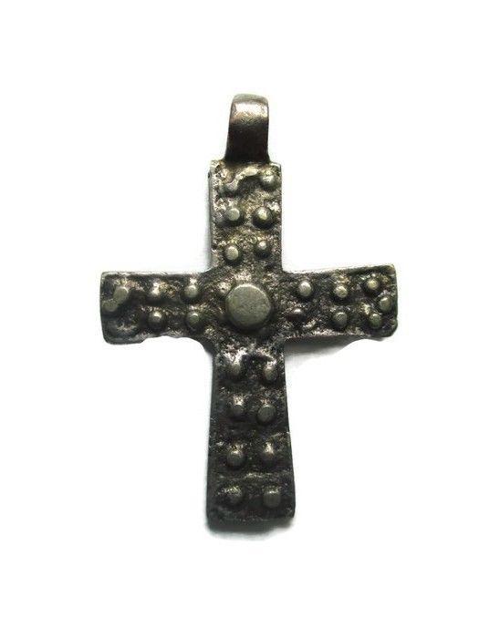 "Ethiopian Coptic Cross Pendant (1.6"" X 1.3"")"