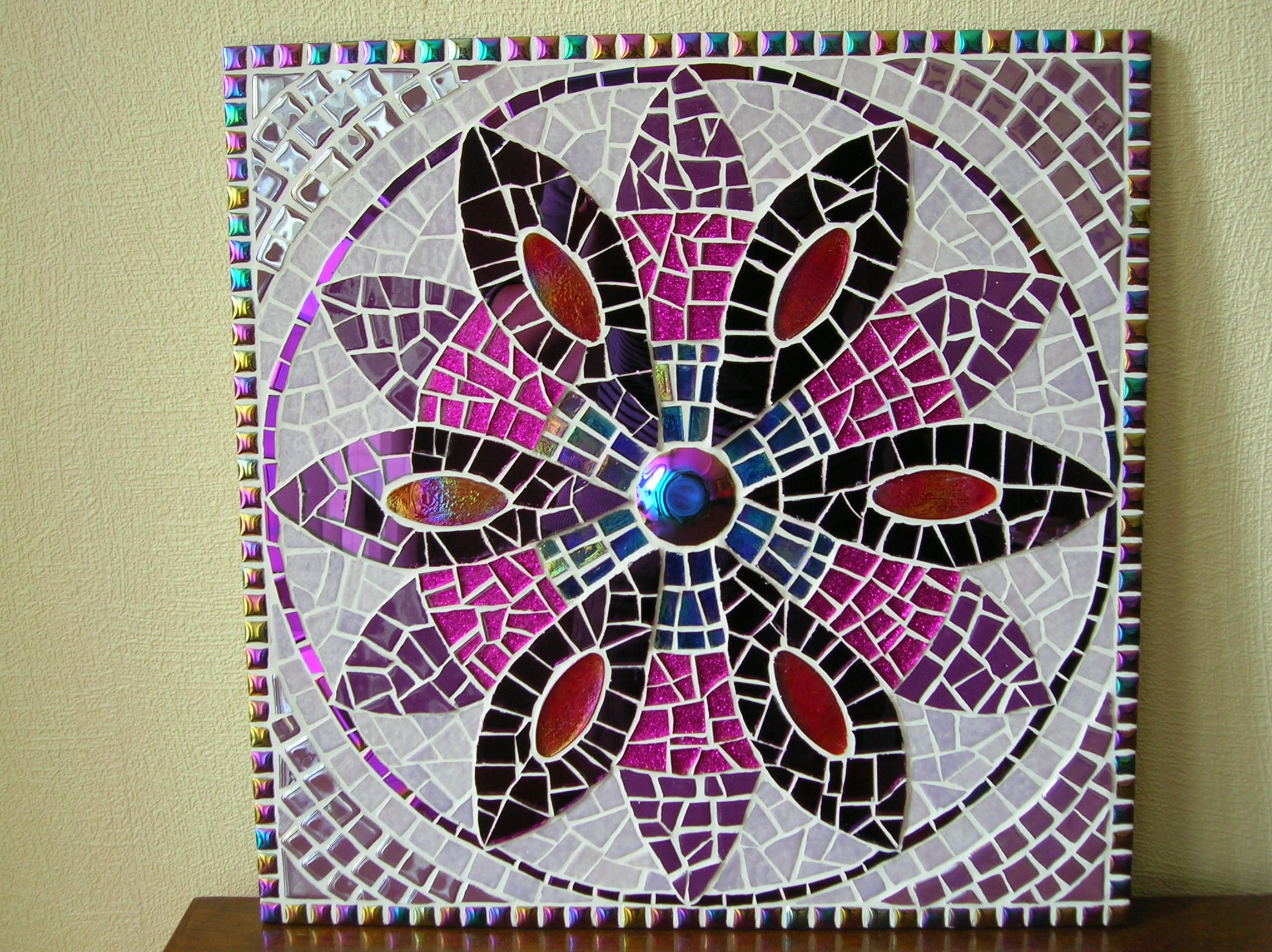 Mosaique Mandala 35x35 Cm Mandala Table Mosaique Mosaique