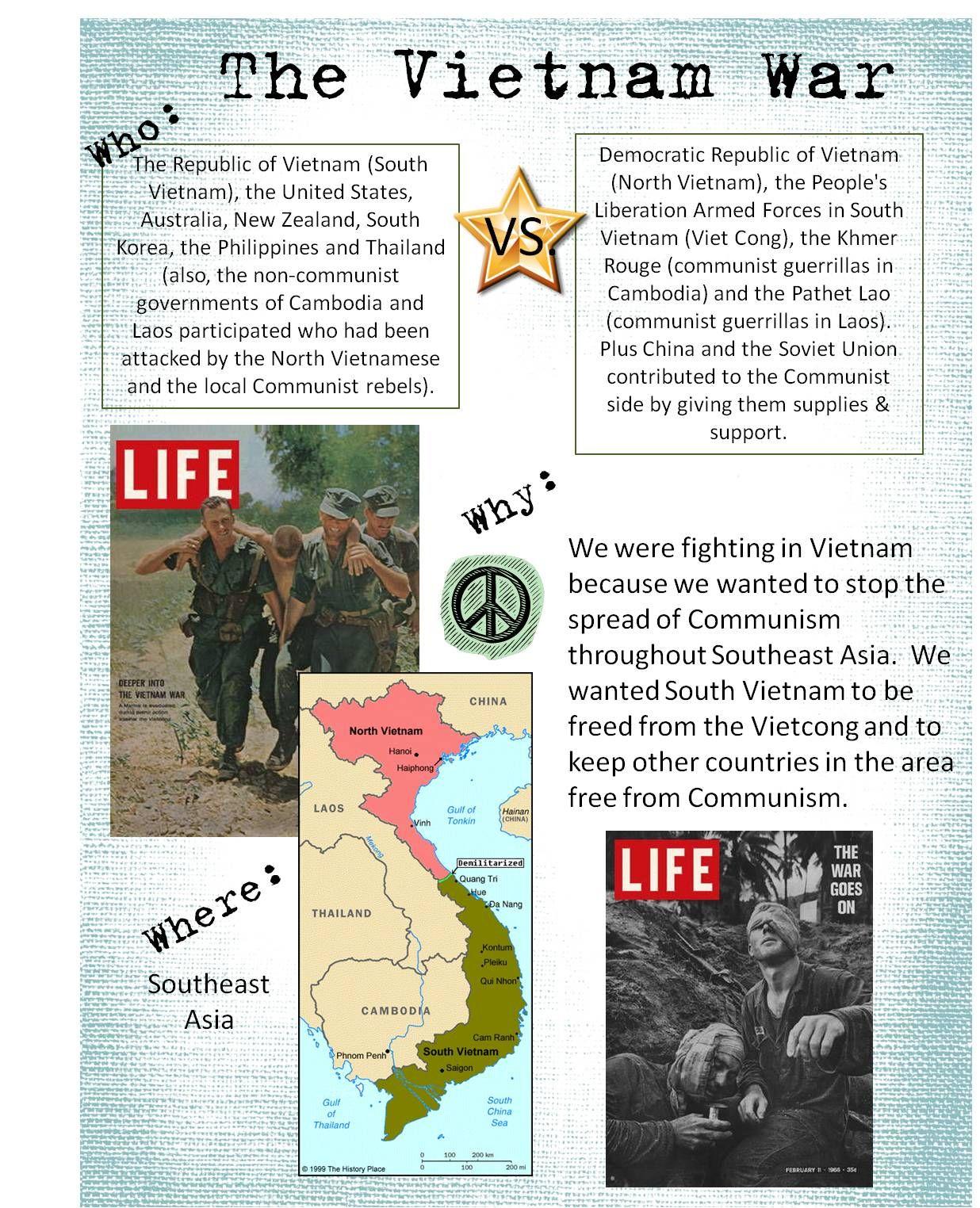 Vietnam War Project for junior high  Education  Pinterest  Vietnam War, Vietnam and Social