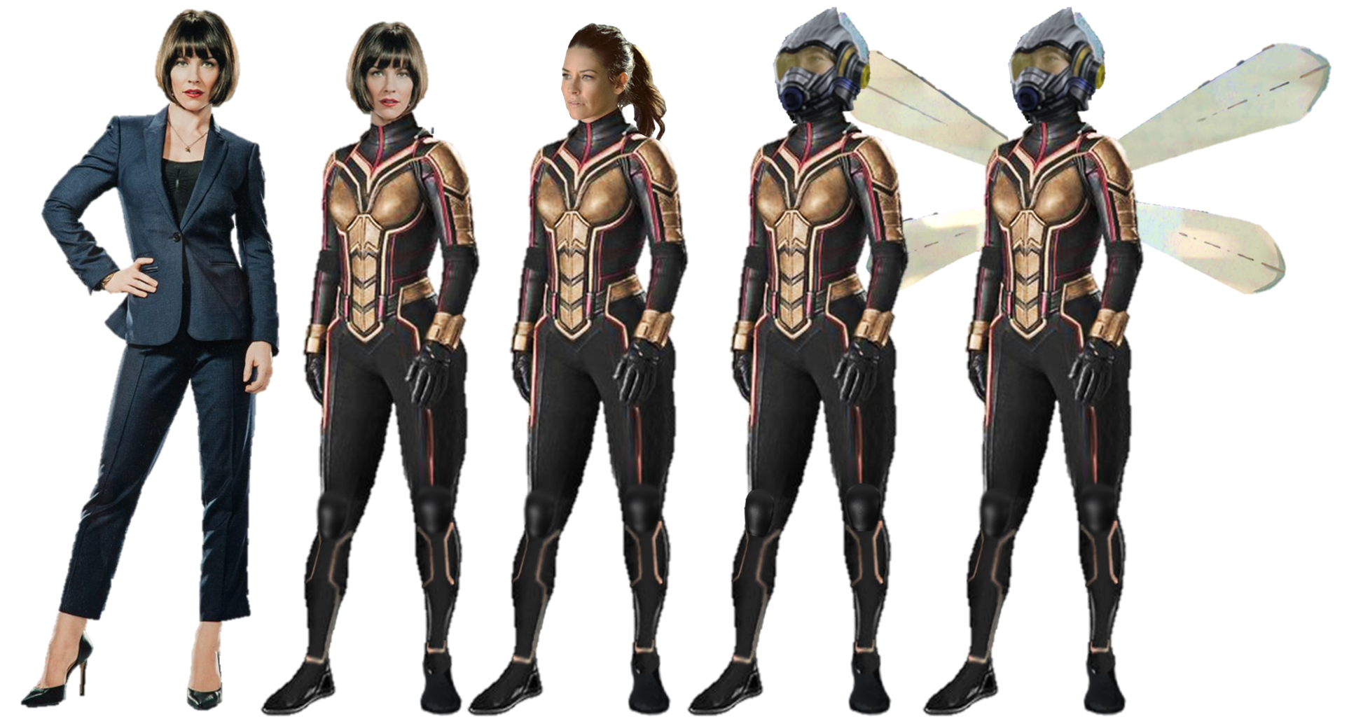 HOT Ant-Man and the Wasp Hope Van Dyne Cosplay Costume Leather Outfit Customize