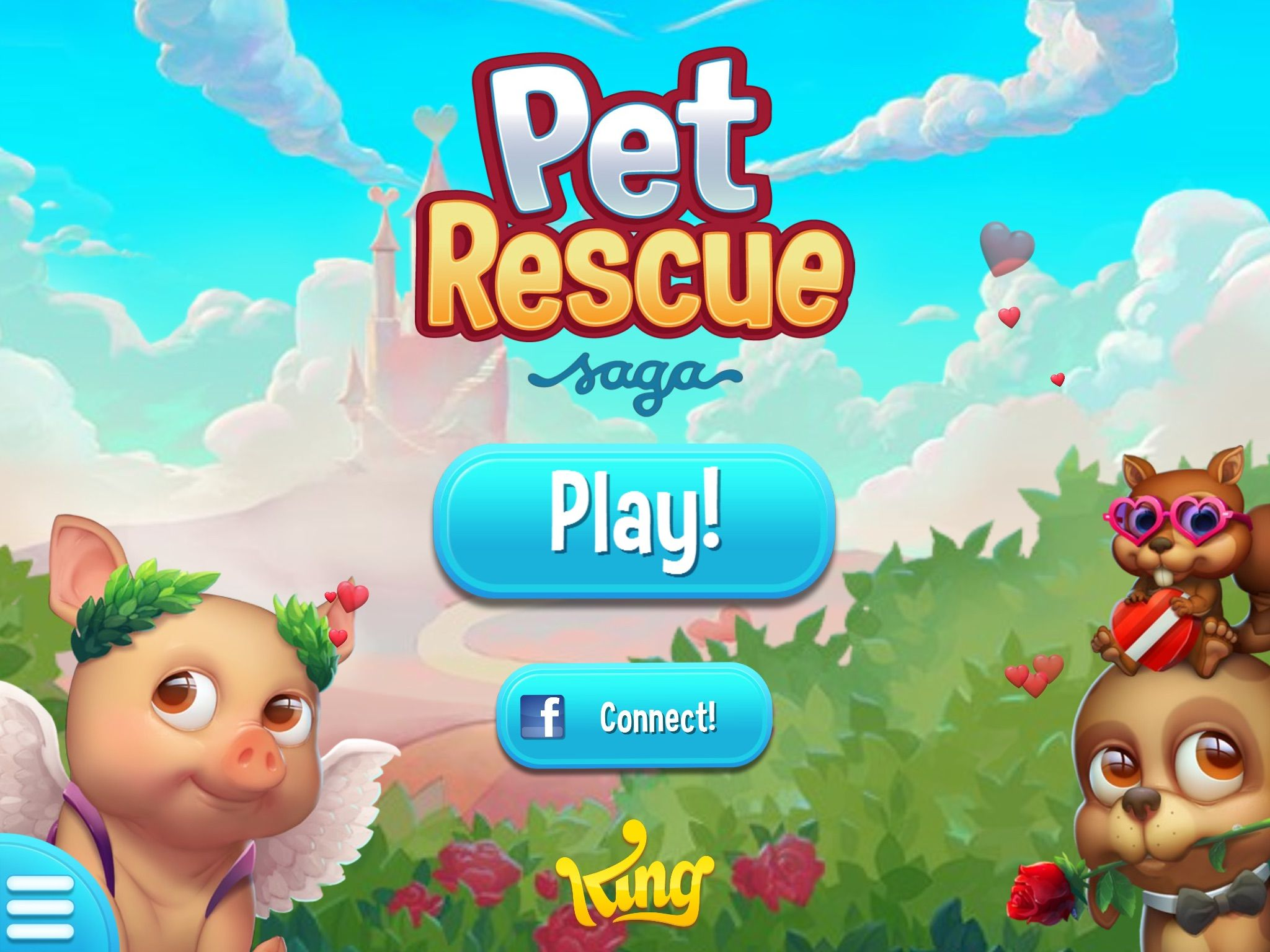 Pet Rescue Saga Opening Screen For February For Valentine S Day Pet Rescue Saga Animal Rescue Pets