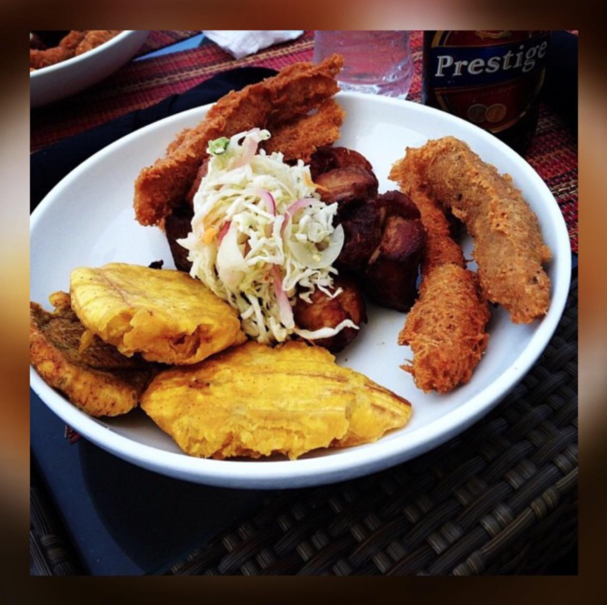 "Haitian Fried ""Fritay"" Platter at Le Michel Restaurant ..."