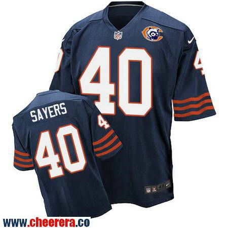 Men's Chicago Bears #40 Gale Sayers Navy Blue Throwback Stitched NFL Nike  Elite Jersey