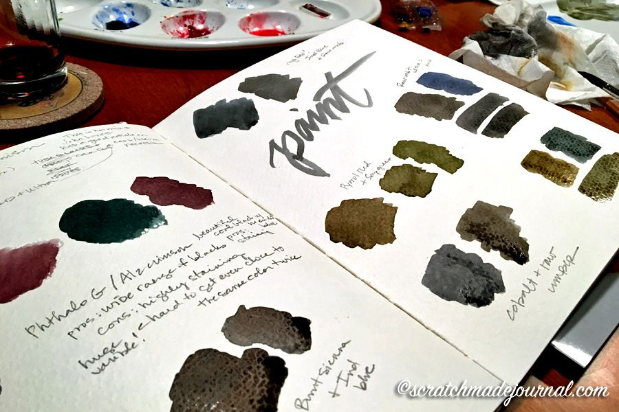 How To Mix Black Watercolor Watercolor Mixing Watercolor