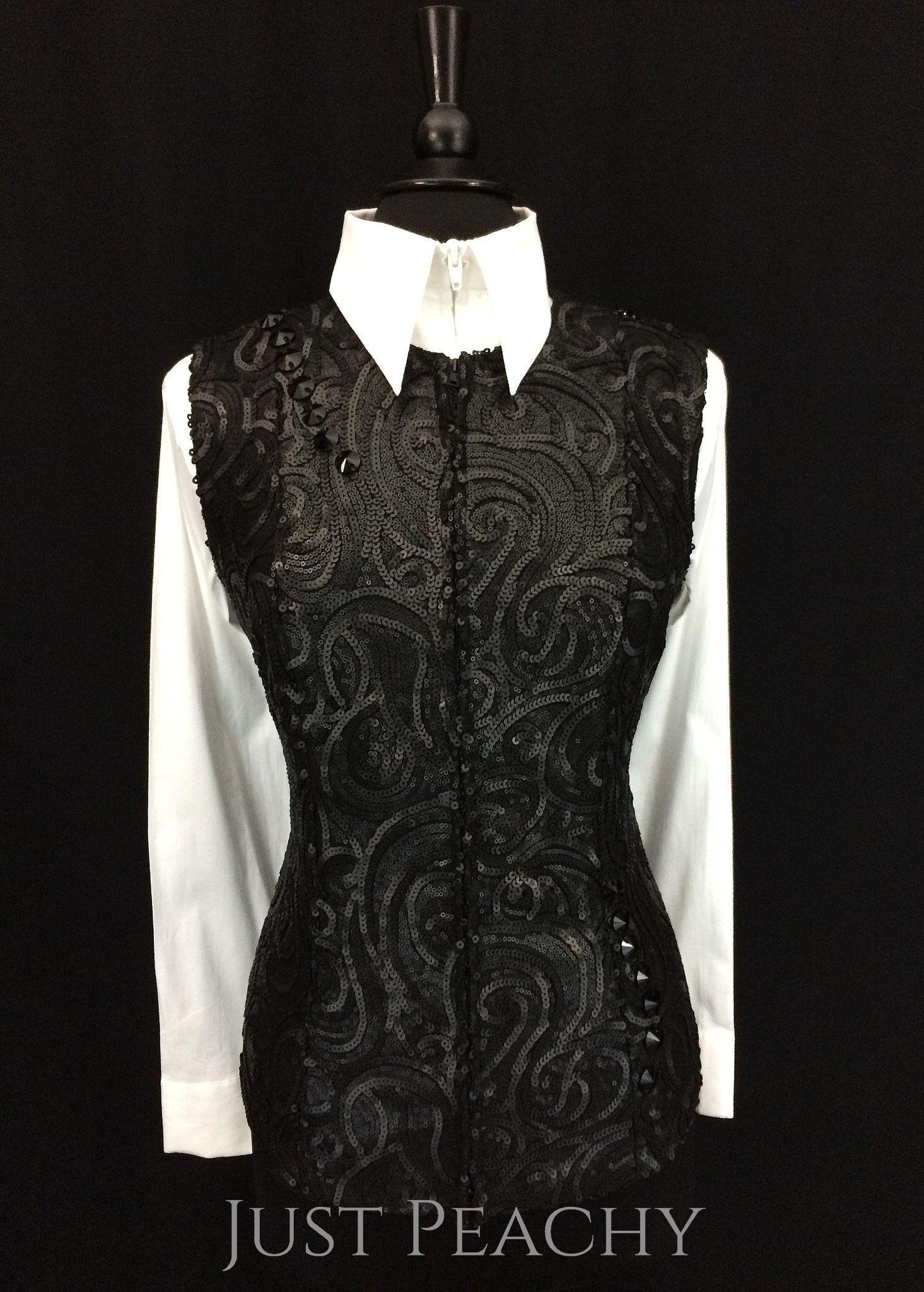 Matte Black Vest by Sweet Magnolia ~ Ladies Large/XL