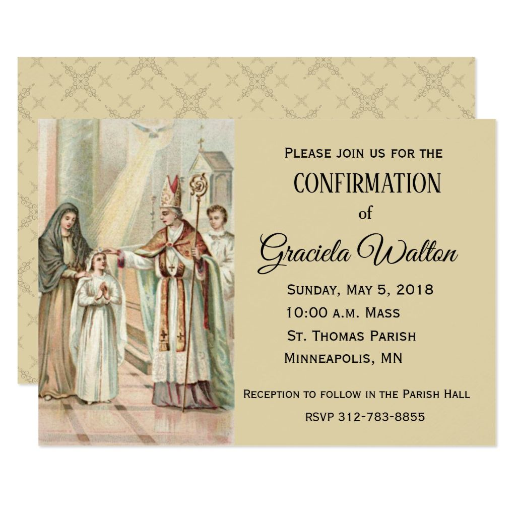 Traditional Catholic Confirmation Confirm Invitation