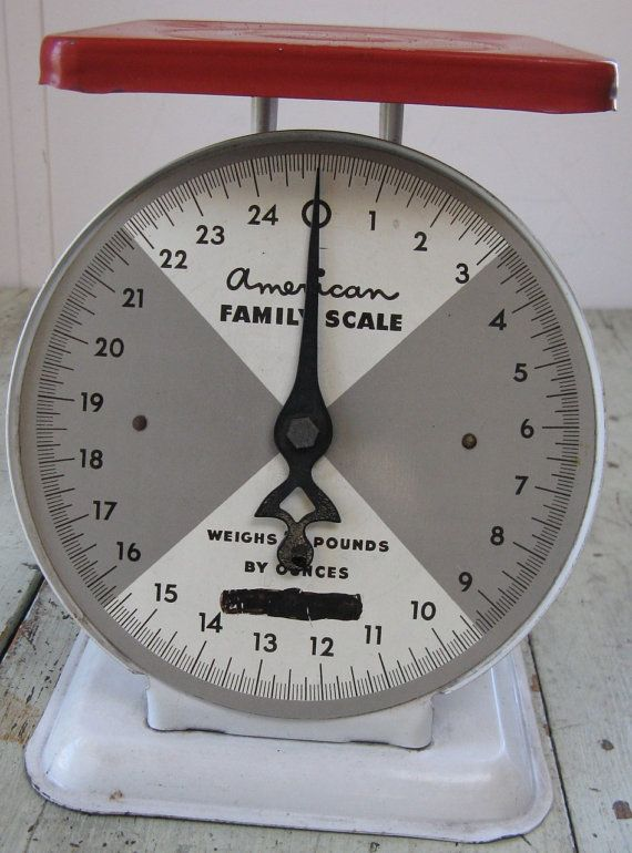 vintage kitchen scale american family scale by rivertownvintage, $29.95