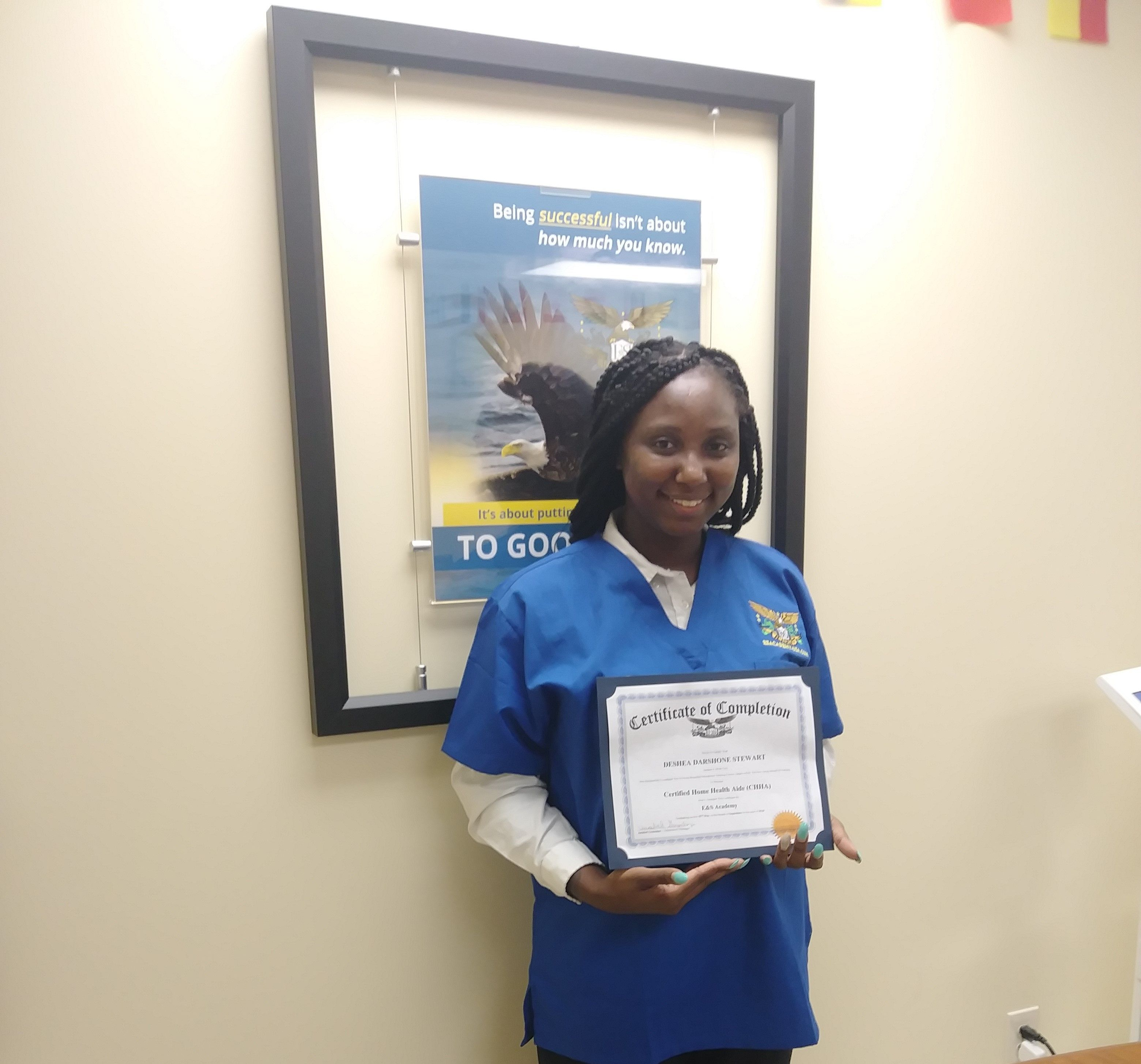 Today Educationandsuccess Brings To You Another Success Story Meet Deshea Stewart She Is Currently Wo Home Health Aide Healthcare Industry Vocational School
