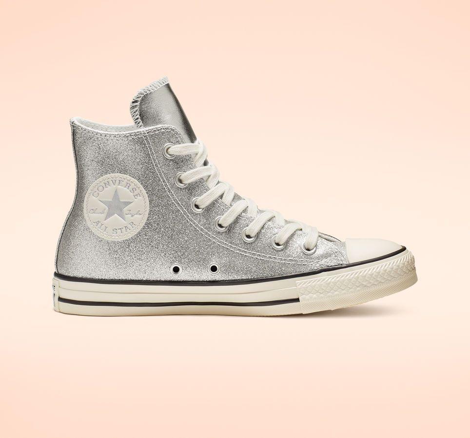 Converse Top Taylor Chuck In Shiny Metallic High Sneaker