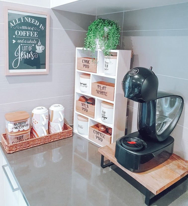 Coffee station in 2020 Coffee station, Kmart hacks, Coffee