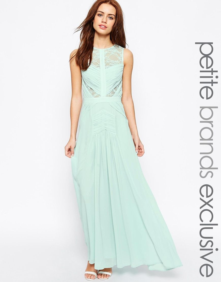 Jarlo petite delilah grecian lace insert maxi dress bridesmaids