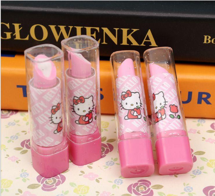 0dff9e2bf New Arrive Lipstick Design Student Eraser Rubber, Children hello Kitty  Eraser, Office & School Supplies kawaii eraser for kids