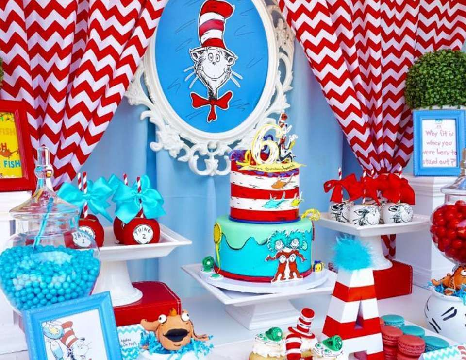Dr Seuss Birthday Annesas 6th