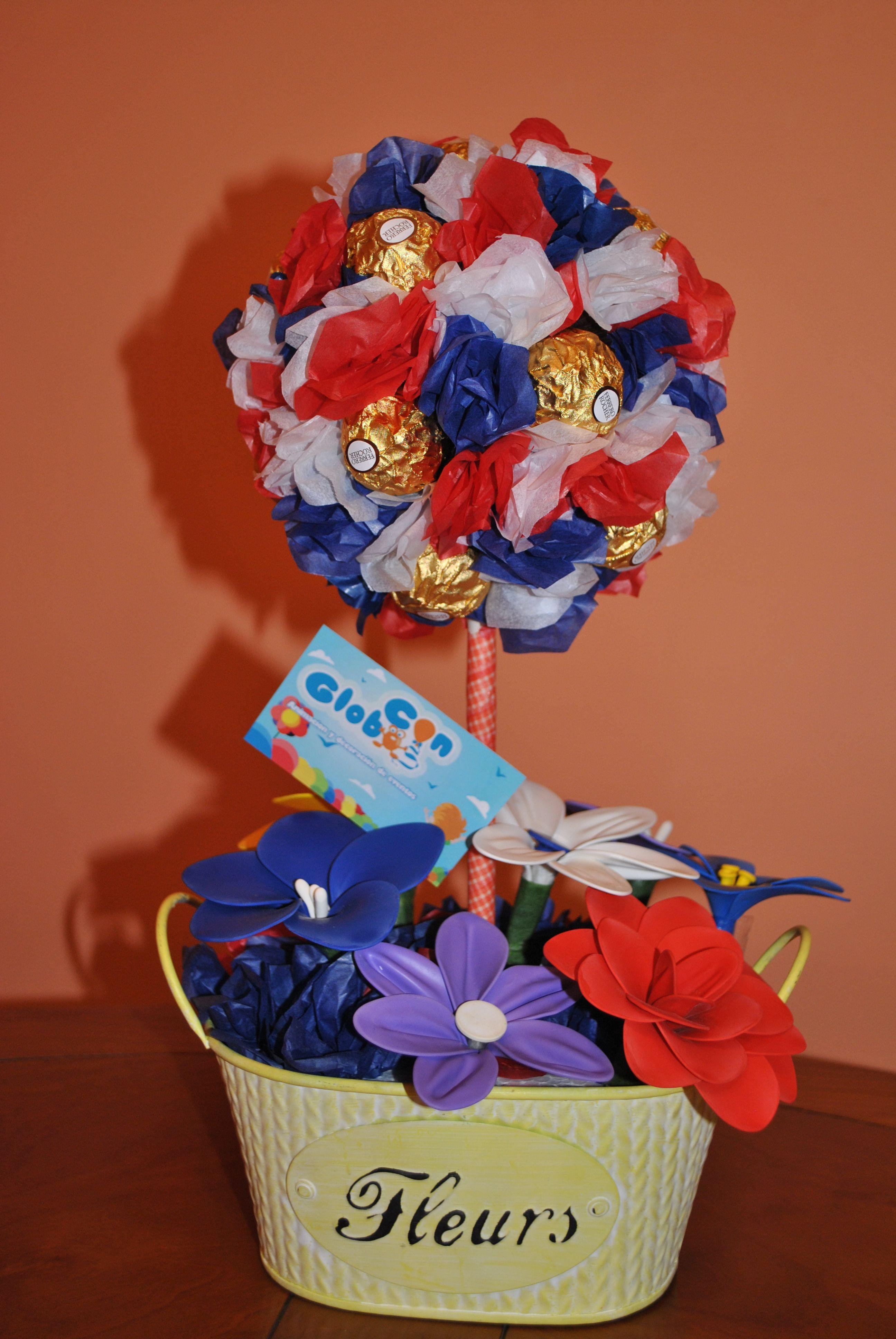 Leonesp Arbolito De Bombones Con Flores Hechas Exclusivamente De
