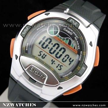 BUY Casio Tide Graph 5 Alarms 100M Sport Watch W-753-3AV ee80a9889651