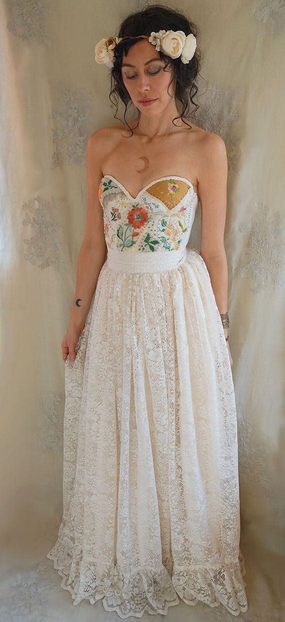 Custom Meadow Bustier Bridal Top... wedding dress by jadadreaming ...