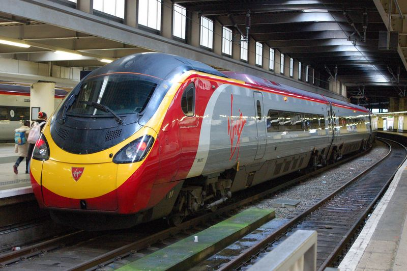Pendolino Virgin Trains Euston London UK Photo: Andrew