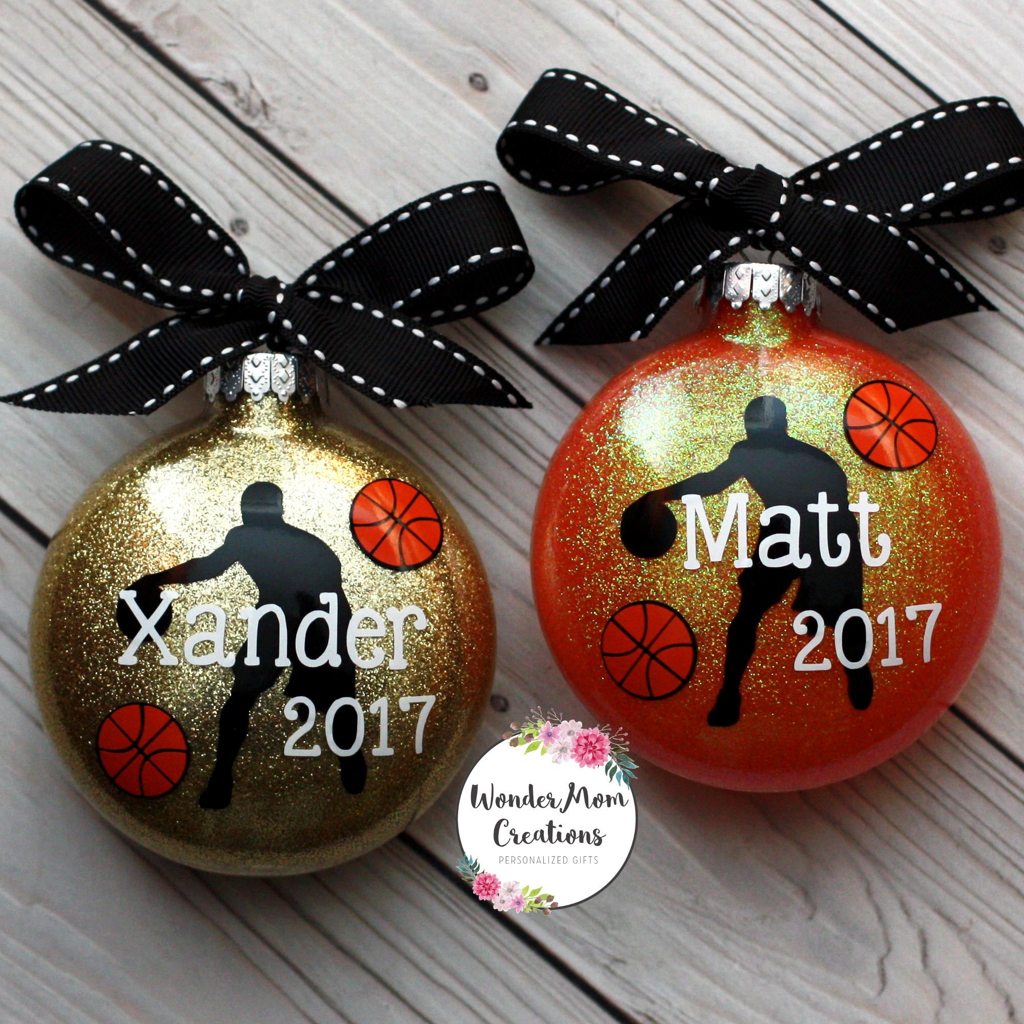 Basketball Player Personalized Ornament; Basketball Coach