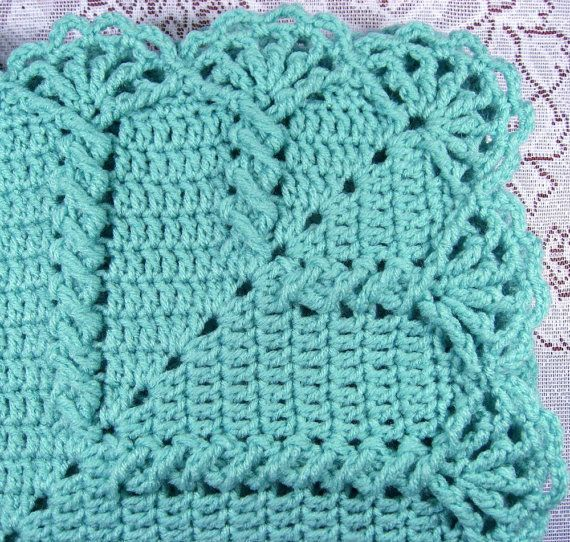 PDF Pattern Crocheted Baby Afghan, CAR SEAT Size and Newborn Size ...