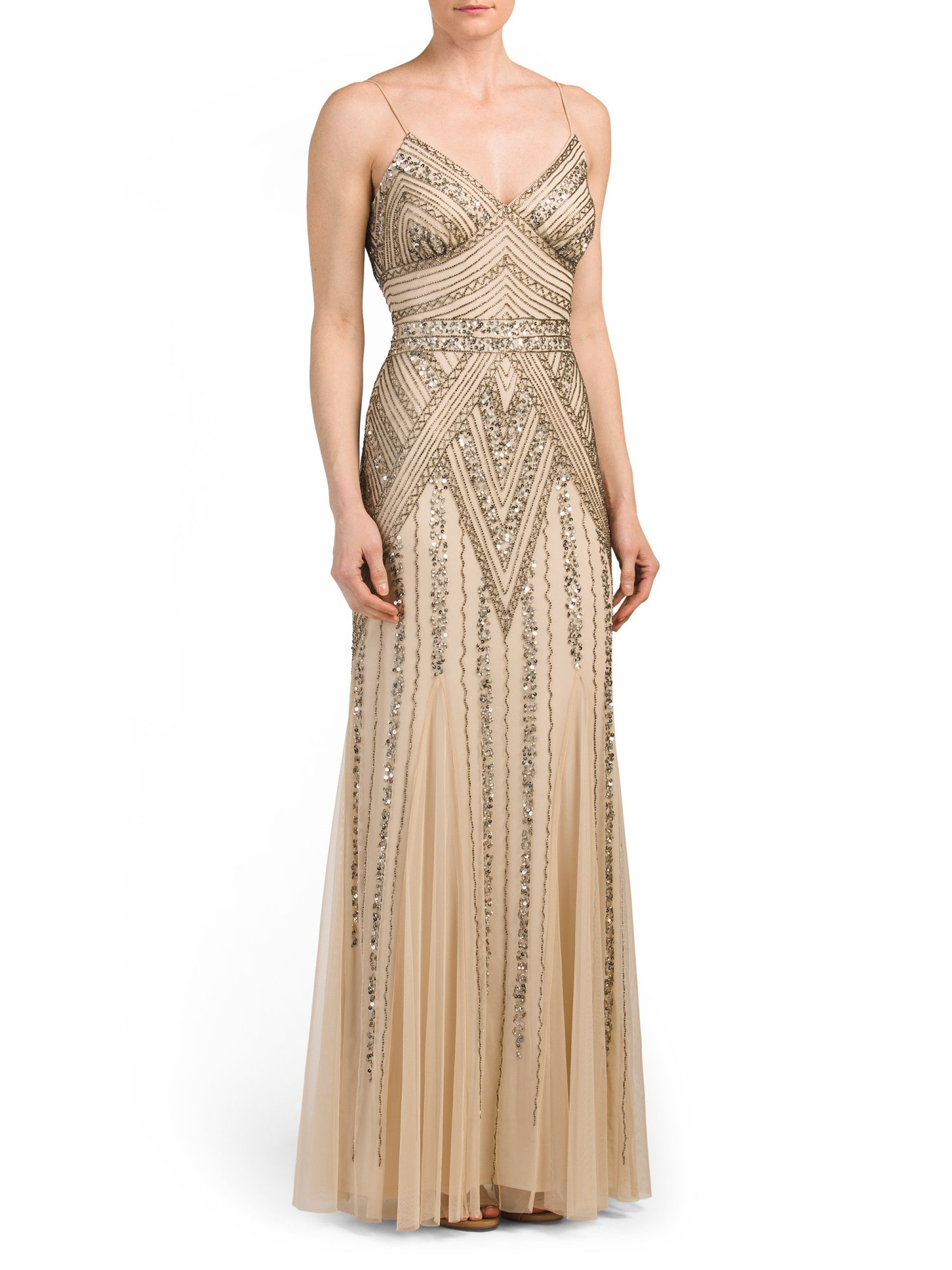 12++ Champagne beaded dress information