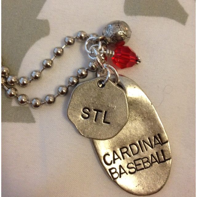 Personalized Cardinals necklace, create your own at http://JenniferSmith.jewelkade.com
