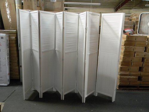Wood Shutter Door 8 Panel Room Divider White Square Furniture Http