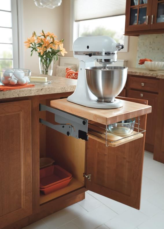 Homecrest S Base Mixer Cabinet Frees Up Counter Space Yet