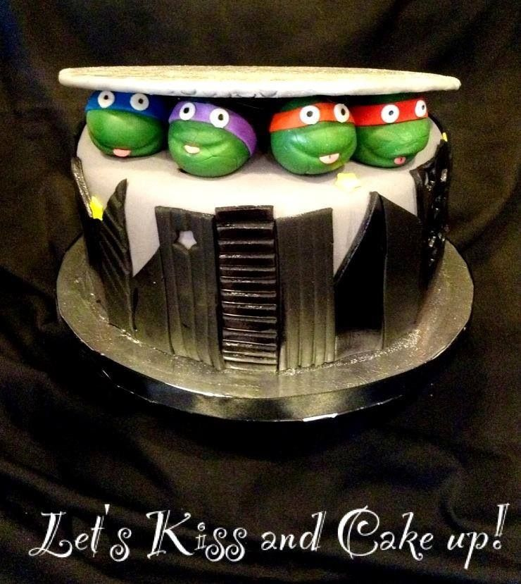 Ninja Turtle birthday cake Lets Kiss and Cake Up Cakes by