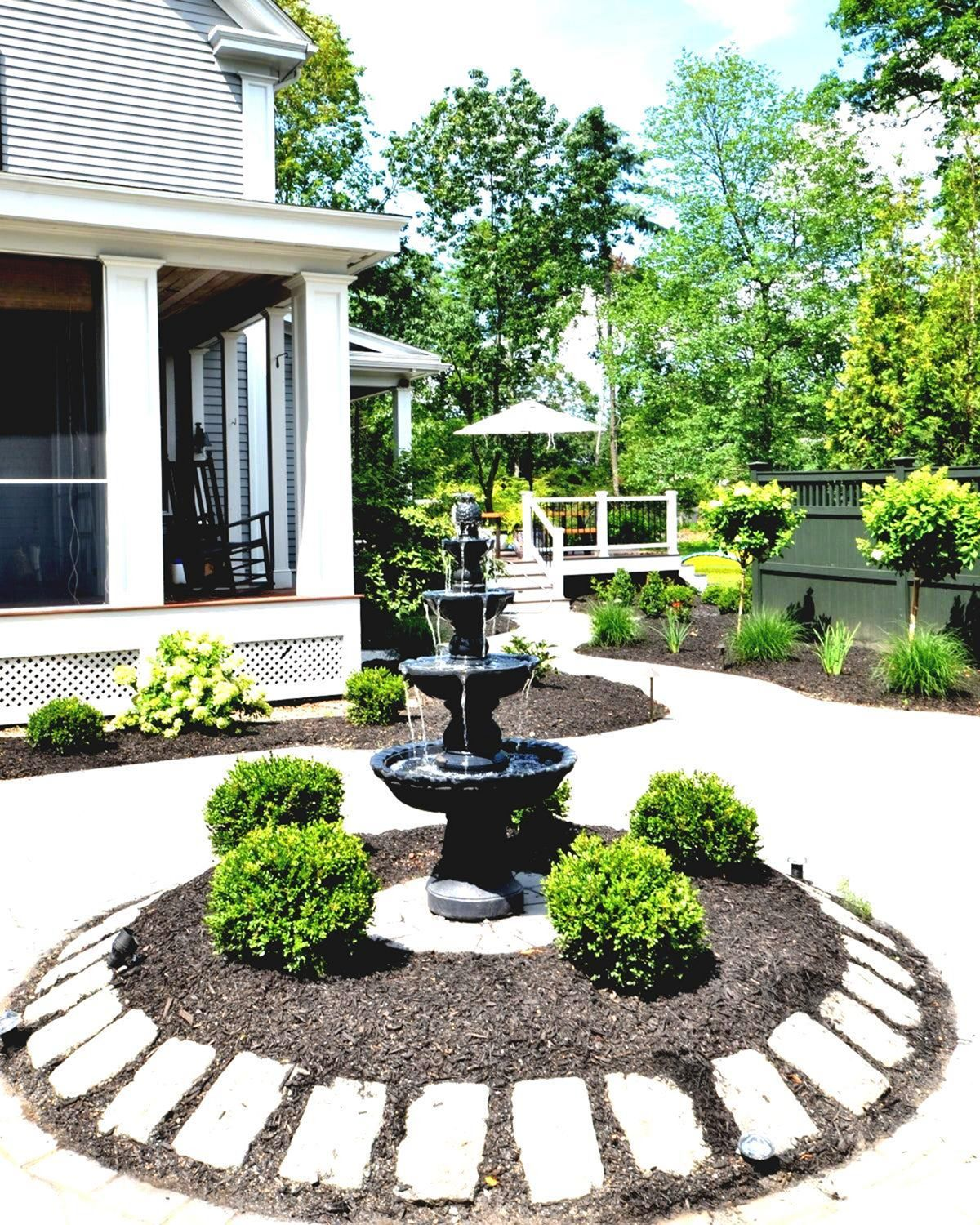 25 Enchanting Small Front Garden With Fountain Ideas Fountains