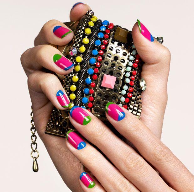 Pin By Kristen Kerzie On Nails Funky Nail Art Manicure Funky Nails
