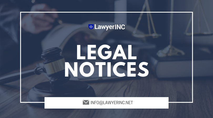 A Legal Notice Is A Legal Action In The Form Of Formal Communication Made To A Person Informing The Frases Inspiradoras Decoracion De Muebles