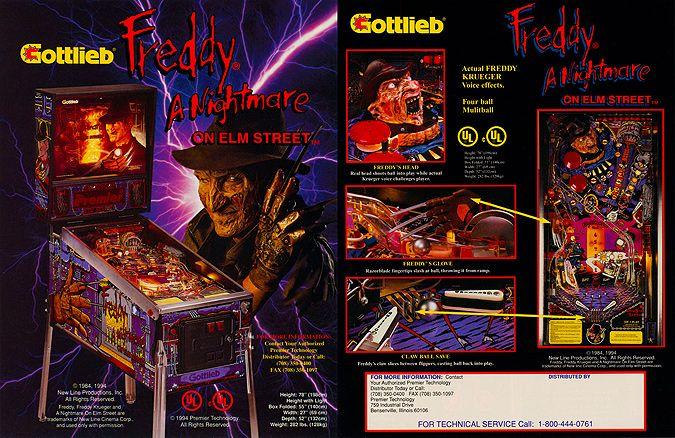 Freddy A Nightmare On Elm Street Pinball Machine Freddy S Nightmares Pinball A Nightmare On Elm Street