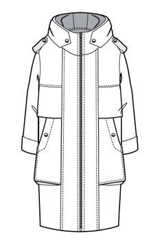 parka jacket technical drawing - Google Search