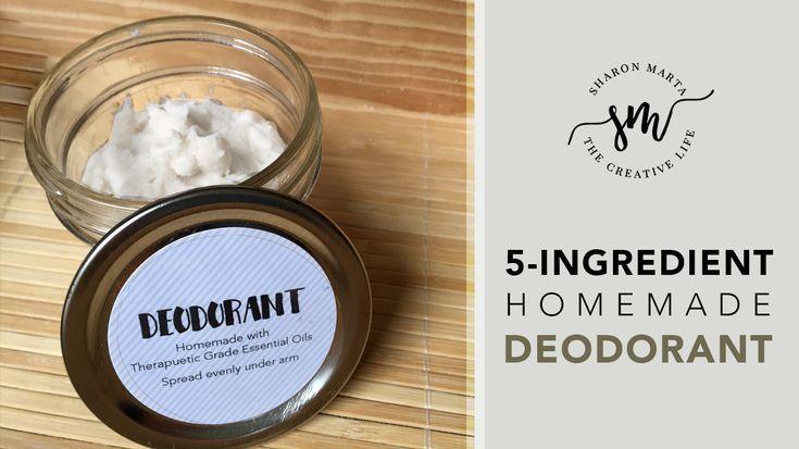 5 ingredient homemade diy deodorant that actually works