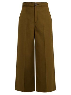 Fitz wide-leg wool-blend cropped trousers Joseph Free Shipping Looking For Order Cheap Price Cheap Sale 2018 Unisex gT24NZSf
