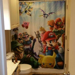 Super Mario Brothers Shower Curtain