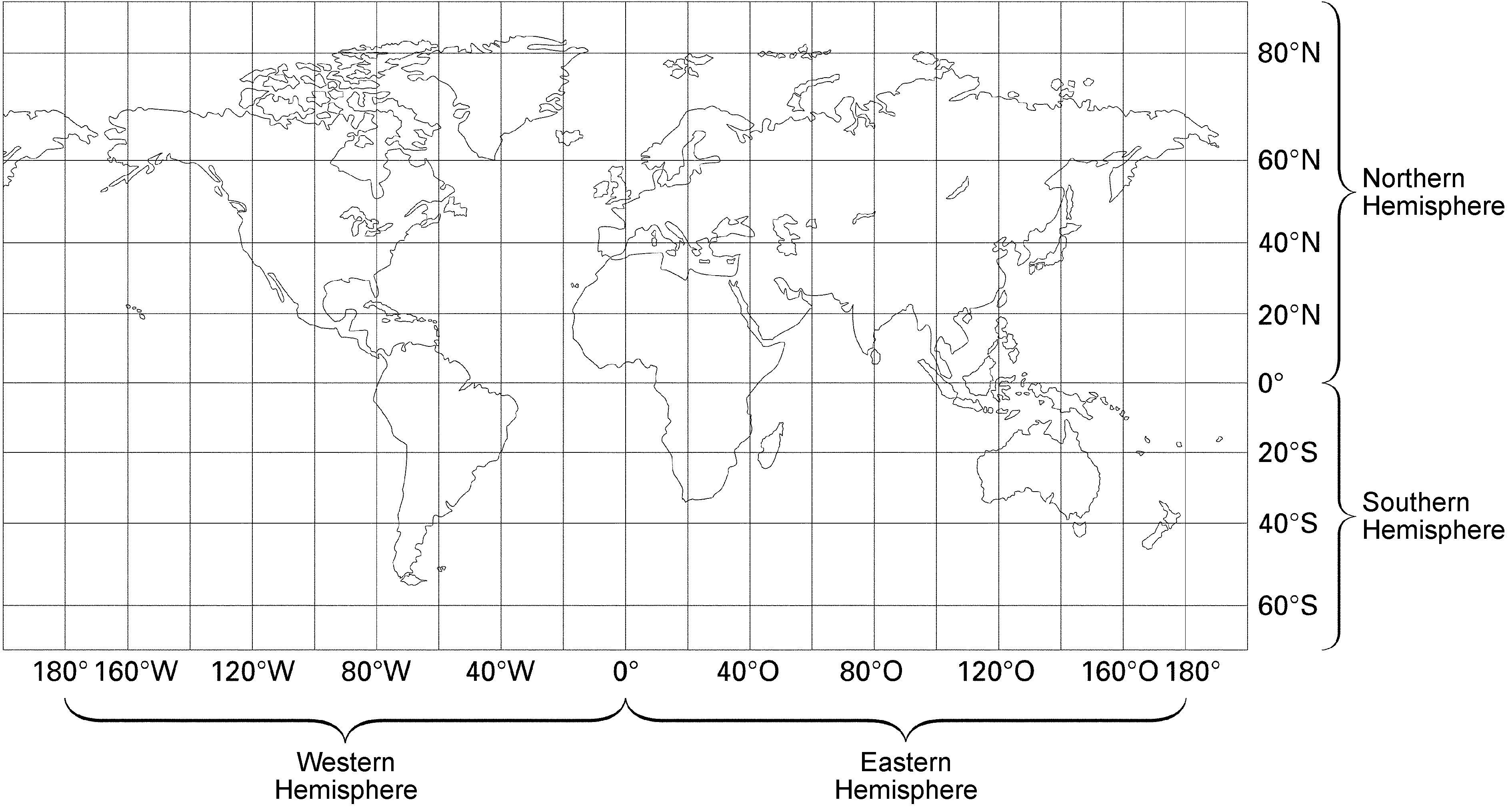 Latitude And Longitude Blank World Map With Lines Furlongs