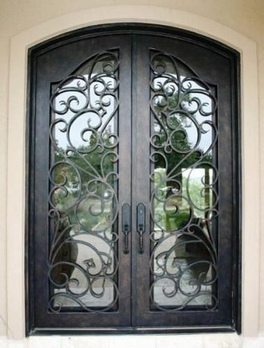 Ivy 76 Wrought Iron Doors Windows Gates Railings From Cantera Doors Wrought Iron Doors Front Entrances Iron Entry Doors Wrought Iron Doors