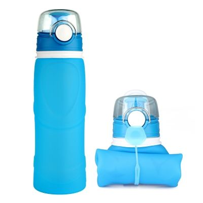 silicone water bottle, bpa free silicone foldable water bottle